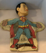 Superman 1965 Ideal Toy Hand Puppet Rare