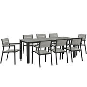 Modway Maine Aluminum 9-piece Outdoor Dining Set With 80 Dining Table