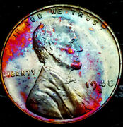1948 S Lincoln Wheat Penny Cent- Beautiful Toning Superb Gem High Grade 08
