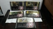 The X-files 35mm Limited Edition Film Cels Lot Of 5 Mulder Scully Deep Throat