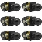Round Ball Bed/bath Door Knobs Privacy Door Knobs In Black Finish With Square Ro