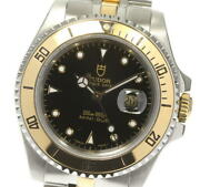 Tudor Oyster Date 73193 Date Black Dial Automatic Boy's Watch_614538