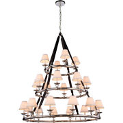 Equestrian With Shades Horseshoe Nickel Country Cottage 24 Light 61 Chandelier