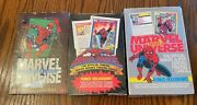 1990 91 And 92 Marvel Universe Series Factory Sealed Boxes