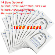 1000 Packs Dental Heat Thermal Activated Niti Rectangular Arch Wire Upper Lower