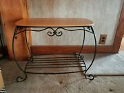 Longaberger Wrought Iron Hope Chest Side Table/stand With Woodcrafts Shelfeuc