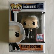 Funko Pop Television First Doctor 508 Nycc 2017 Figure Bbc Doctor Who Read