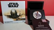 1 Oz Silver Proof Mandalorian Niue 2021 .999 Pure 1st In Series-limited Edition