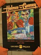 1982 Larry Holmes Vs. Gerry Cooney Signed Boxing Poster Gtp All Rare June Dated