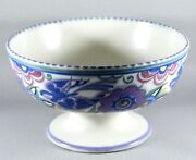 Art Deco Poole Pottery Footed Fruit Bowl Pb Pattern C1930