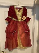 Nwt Disney Store Belle Beauty And The Beast Winter Red Costume Child Size M 7/8