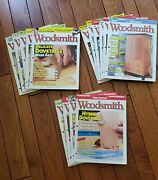 Lot Of 15 Woodsmith Magazine Issues  Nos. 188 - 202
