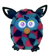 Hasbro 2013 Furby Boom Peacock Electronic Interactive Toy Teal Pink Black