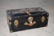 Vintage Steamer Trunk Clothes Storage Wardrobe Chest Travel Luggage Coffee Table