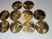10 Coins 2000 D Sacagawea Dollar Us Mint Coin In Brilliant Uncirculated