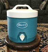 Vintage Blue Gott 1 Gallon Water Cooler With Faucet New Old Stock