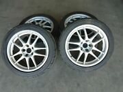 Jdm Used Rare Work Emotion Forged Wae Wheels 17x8.5 And 17x9.5 5x114.3 W/ Tires