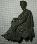 Antique Bronze Clock Topper Statue Marked A 1004 Speltzer Maybe Not Sure 6and039 Tall