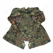 Wwii Ww2 German Army Oakleaf Camo Reversible Poncho Tent Zeltbahn 68and039and039 X 96