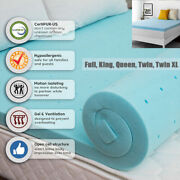 2and039and039 Or 3 Genniyz Gel Memory Foam Mattress Topper W/cover King Queen Full Twin