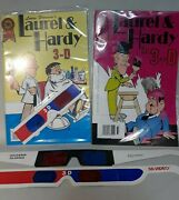 1987 Laurel And Hardy 3-d Comic Book Magazine Lot With Glasses Bozo The Clown 💎