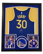 Steph Curry Autographed Signed Framed Golden State Warriors Jersey Fanatics 🔥