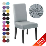 Basic Stretch Chair Cover For Dining Room Chairs Covers High Back Slipcover New