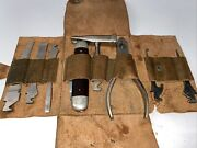 Vintage Clauss Fremont Ohio Tool Set With A Leather Pouch Ultra Rare