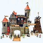 Playmobil 3666 Knights Large Castle Steck Complete With 3887