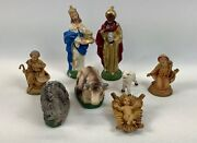 Vintage Nativity Figurines Set Made In Italy 9 Pieces