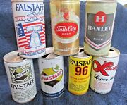 7 - Falstaff Old Beer Cans / Steel / Brewery / 96 Lager Lucky Falls Hanley