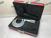 Rare Starrett T238 Xrl Micrometer 0-1 Carbide And .0001 Accuracy Case And Wrench
