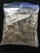Lot 1000 Wheat Cents Lincoln Head Pennies Circulated Us