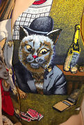 210 Sfa Vest Cats Poker Playing Felines Tabby Russian Blue Ginger Tom Cat New
