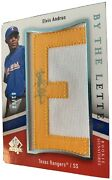 1/1 Elvis Andrus Auto Rc 2009 Ud Sp Authentic By The Letter Patch Rookie 01/60