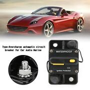 Circuit Breaker Fuse Audio Holder 50a Manual Switch Reset Fuse For Car Boat Fp6