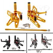 Cnc Rearset Foot Peg Rearset Footrest Pedal For Yamaha Yzf R6 03-05 R6s 06-09