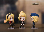 3pcs Cute Anime Cross Fire Characters Action Figures Pvc Models Statues Toy 65mm