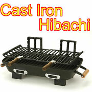 New Hibachi Grill Cast Iron Charcoal Cooking Light Portable Charcoal Bbq Outdoor