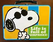 Vintage Lunch Box,lunch Tin - Peanuts - Snoopy - The Secret Is To Stay Cool