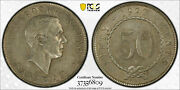 British Sarawak 1927 - H Brooke Fifty Cents Pcgs Au 50, 50 Cents. 200,000 Minted
