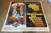Diamonds Are Forever Original 6 Sheet Movie Poster - Connery Hollywood Posters