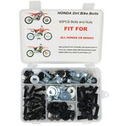 Complete Plastic Body Bolts Screw Aftermarket Fit For Honda Cr 80 85 125 250