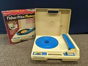 Fisher Price Phonograph 825 Portable Record Player Turntable Vintage Toy Box
