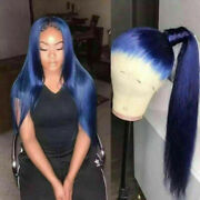 Luxury Lace Front Midnight Blue Silky Straight Glueless Full Lace Human Hair Wig