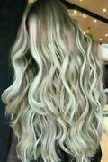 Luxury Lace Front Balayage Brown Light Platinum Blonde Human Hair Full Lace Wig