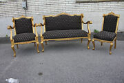 Exquisite Antique 19th C. French Louis Xv Gilded Living Room Parlor Set