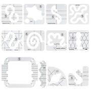 Acrylic Domestic Machines Sewing Template Rulers Quilting Templates Free-motion