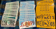 Alaska License Plates Lot Of 100 Many Matching Pairs 3 Different Designs Look 👀