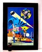 Scarce 1978 Dc Comics Batman And Robin Wall Size Poster Professionally Framed